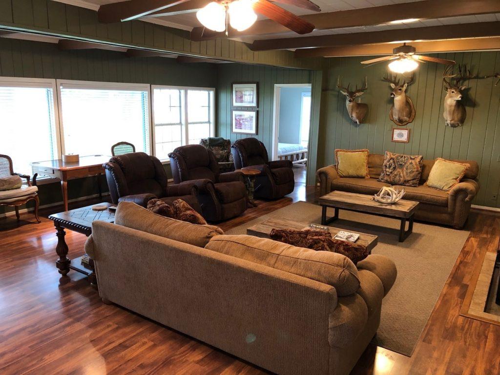 Family Room in Oak Creek Ranch Main House